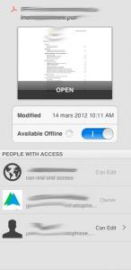 accès hors ligne google drive